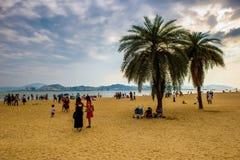 Goldener Strand von Gulangyu-Insel Lizenzfreies Stockbild