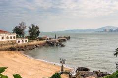 Goldener Strand von Gulangyu-Insel Stockfotografie