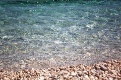 Goldener Strand XI in der kefalonia Insel in Griechenland Lizenzfreie Stockbilder