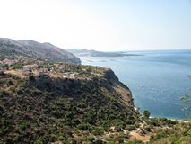 Goldener Strand XI in der kefalonia Insel in Griechenland Lizenzfreies Stockfoto