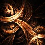 goldener Strudel Lizenzfreies Stockfoto