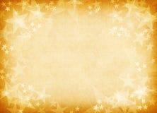 Goldener strukturierter Sternhintergrund. Stockfoto