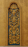Goldener Stuck der Blume im Tempel Bangkok Lizenzfreie Stockbilder