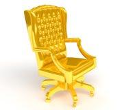 Goldener Stuhl Stockfoto