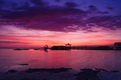Goldener Stunden-Sonnenuntergang Stockfoto