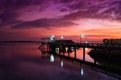 Goldener Stunden-Sonnenuntergang Lizenzfreies Stockfoto