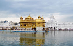 Goldener Tempel Amritsar, Indien stockbild