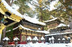 Goldener Tempel-Schnee Lizenzfreie Stockbilder