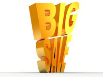 Goldener Text des großen Verkaufs Lizenzfreies Stockfoto