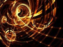 Goldener Tunnel - erzeugtes Bild der Zusammenfassung digital Lizenzfreie Stockfotos