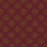 Goldener und kastanienbrauner Damast-nahtloses Muster Stockfotografie