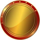 Goldener und roter Preis lizenzfreie abbildung