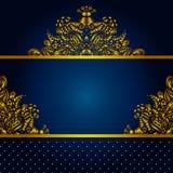 Goldener Vektor-Rahmen-Hintergrund Lizenzfreies Stockfoto