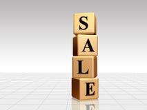 Goldener Verkauf mit Reflexion Stockfoto