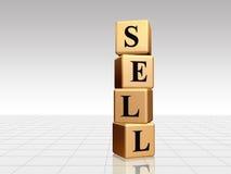 Goldener Verkauf mit Reflexion Lizenzfreie Stockfotografie