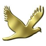 Goldener Vogel lizenzfreie abbildung