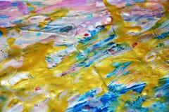 Goldener wächserner abstrakter Hintergrund, klarer Hintergrund des Aquarells, Beschaffenheit Lizenzfreies Stockfoto