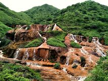 Goldener Wasserfall Taiwan lizenzfreies stockbild