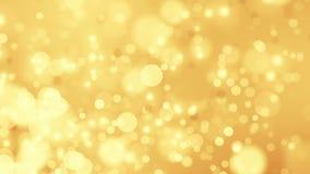 Goldener weicher Hintergrund Loopable stock video