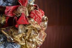 Goldener Weihnachtsbaum Stockfotos