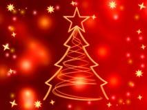 Goldener Weihnachtsbaum Lizenzfreie Stockbilder