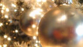 Goldener Weihnachtsbaum (HD-Schleife) stock footage