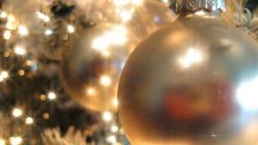 Goldener Weihnachtsbaum (HD-Schleife) stock video