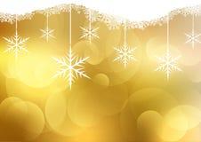 Goldener Weihnachtshintergrund Lizenzfreies Stockbild