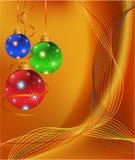 Goldener Weihnachtshintergrund Lizenzfreie Stockbilder