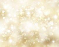 Goldener Weihnachtshintergrund Stockfotografie