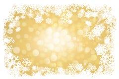 Goldener Weihnachtshintergrund Lizenzfreie Stockfotos