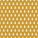 Goldener Weihnachtshintergrund mit Baum der weißen Weihnacht in Folge abwechselnd lizenzfreie abbildung