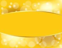 Goldener Weihnachtshintergrund mit Exemplar-Platz stock abbildung