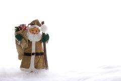 Goldener Weihnachtsmann Stockbild