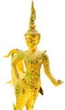Goldener Winkel, Kinnari lokalisierte auf weißem Hintergrund Lizenzfreie Stockbilder