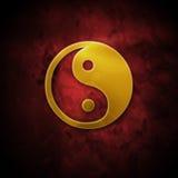 Goldener ying Yang Stockbild