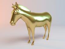 Goldener Zebra lizenzfreie abbildung