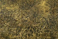 Goldener Zementwandhintergrund und gemasert Lizenzfreie Stockfotos