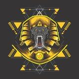 Goldenes Ägypten-kong lizenzfreie abbildung