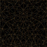 Goldenes abstraktes Muster von Linien Stockfoto