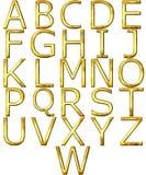 goldenes Alphabet 3D Stockfoto