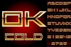 Goldenes angrenzendes Schriftbild Stockfotos