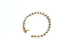Goldenes Armband mit Edelstein Stockfoto