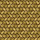 Goldenes aus Weiden geflochtenes nahtloses Muster Lizenzfreies Stockfoto