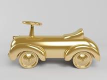 goldenes Auto 3d Lizenzfreie Stockbilder