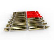 Goldenes barecode Lizenzfreie Stockfotos