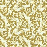 Goldenes barockes Muster Lizenzfreies Stockbild