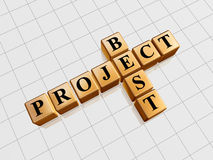 Goldenes bestes Projekt mögen Kreuzworträtsel lizenzfreie abbildung