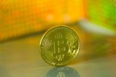 Goldenes Bitcoin Stockfotos