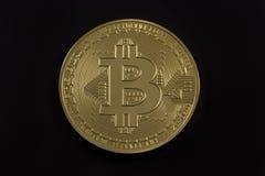 Goldenes Bitcoin Stockbild